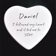 I Followed My Heart Boxed Ceramic Heart - Personalised Valentine's Day Gift